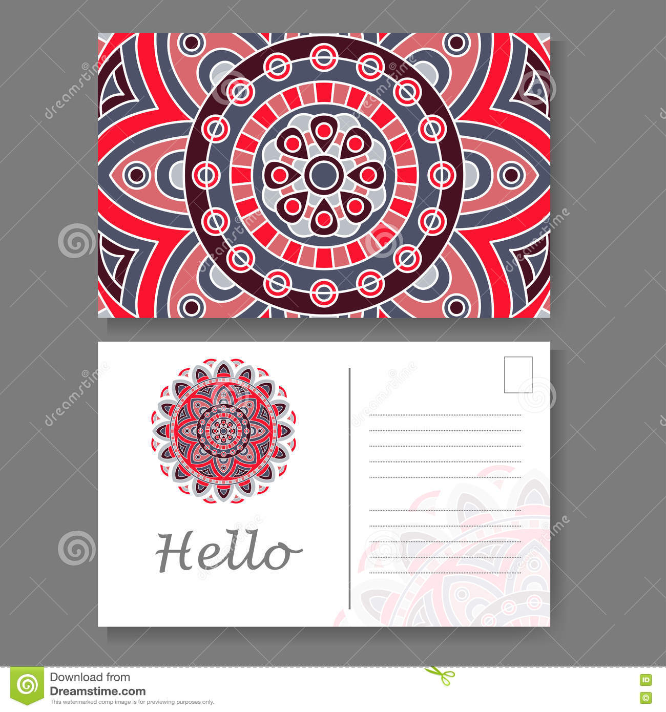 Template For Business Invitation Card Postcard Background