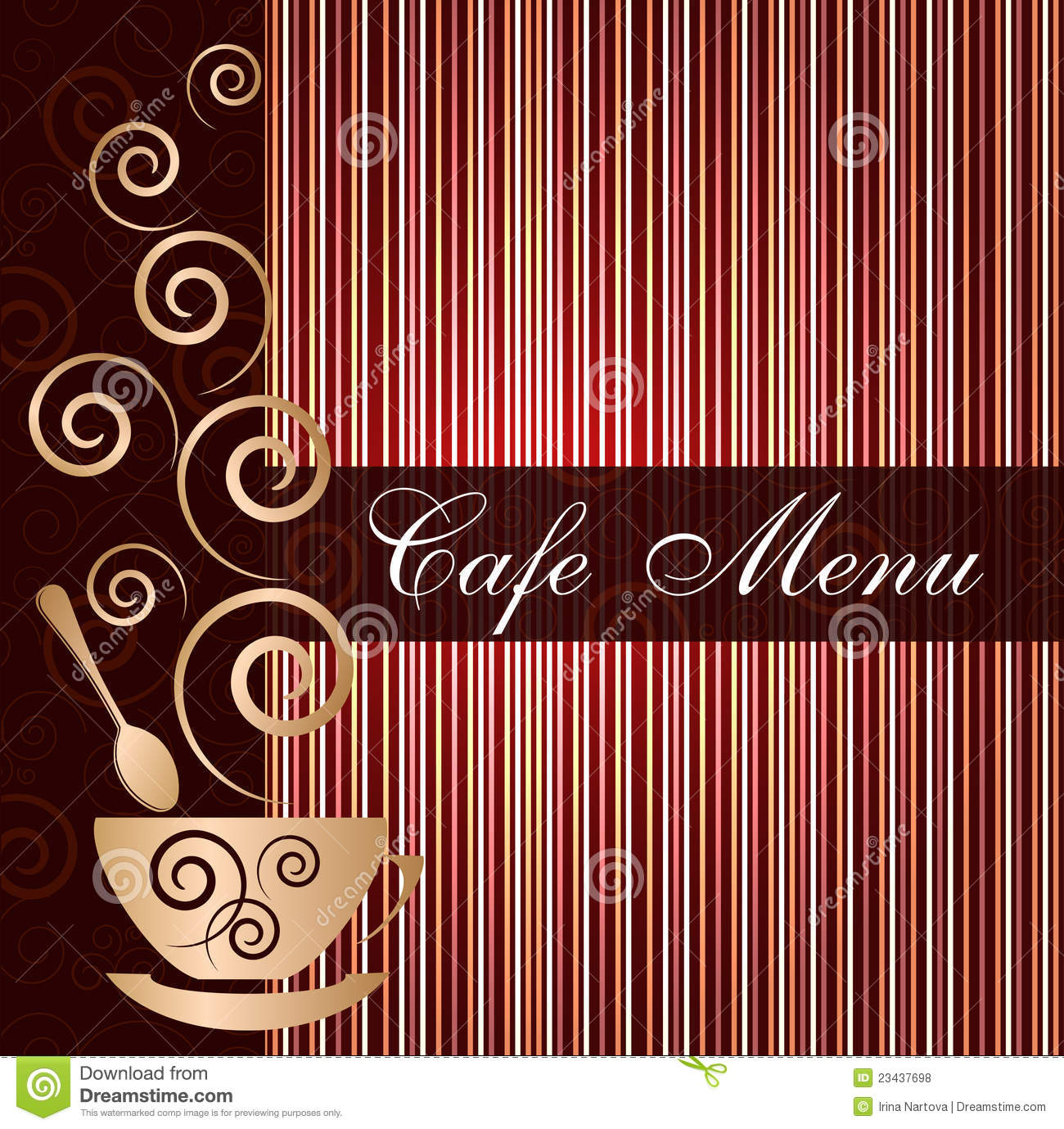 Sample Cafe Menu Template