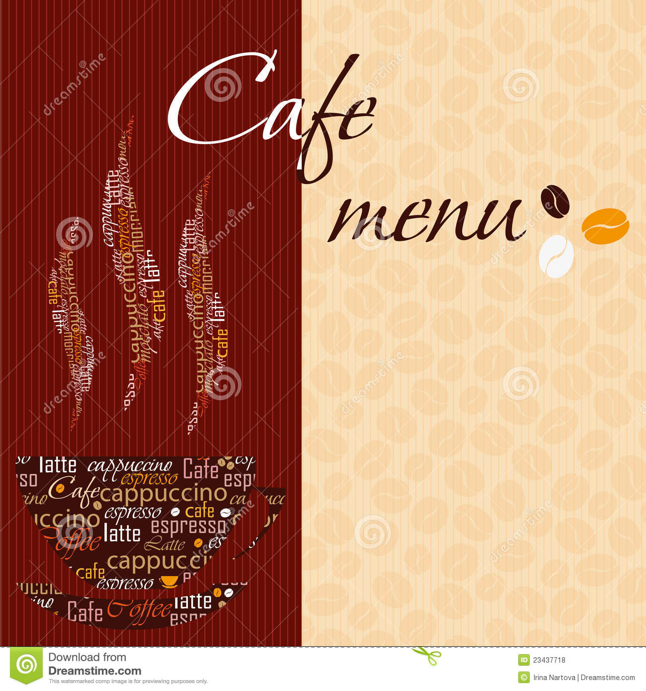 Template of a cafe menu royalty free stock photos image for Cafe menu design template free download