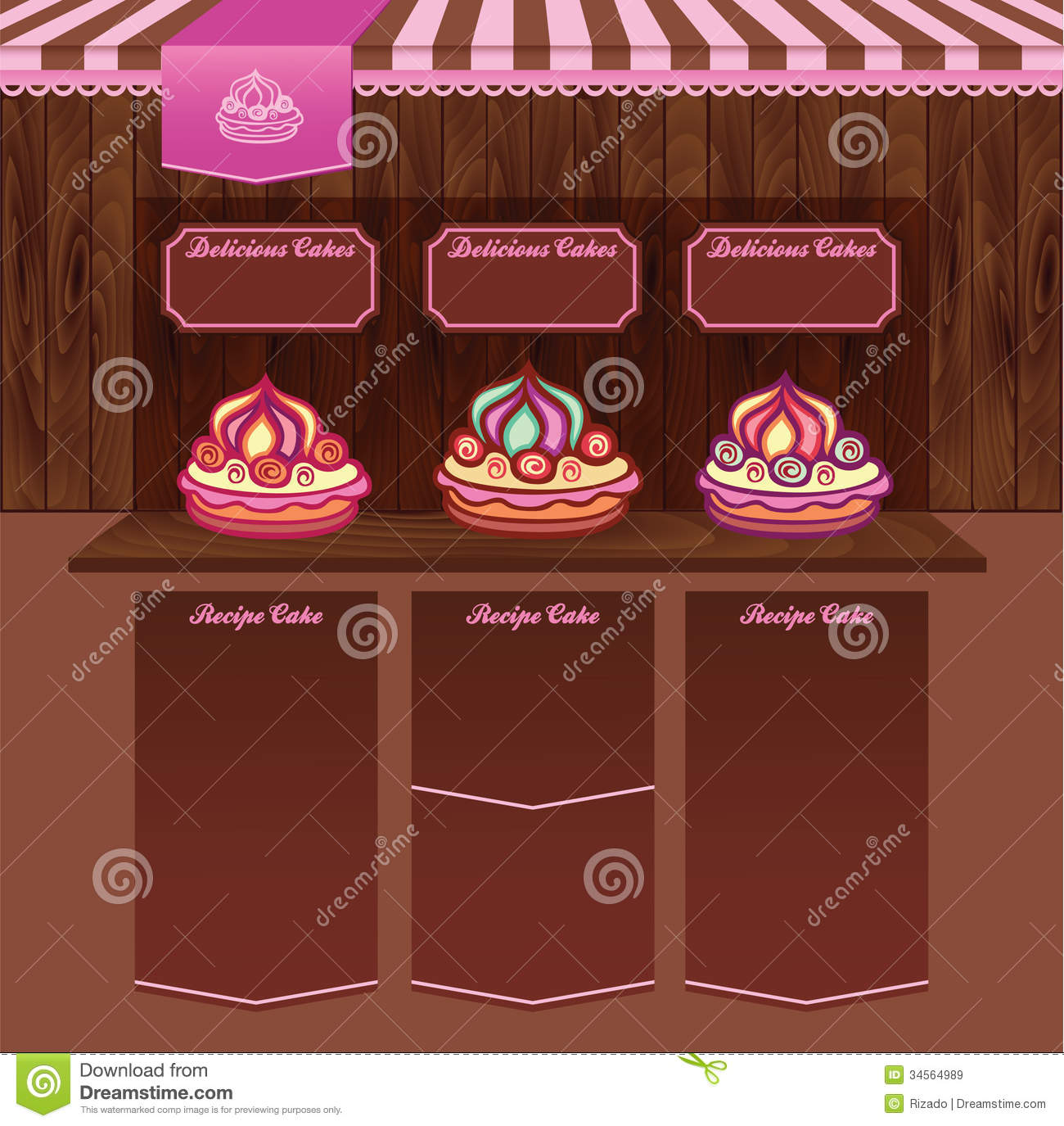 Cake Design Web Templates : Template For Cake Recipes Web Site Royalty Free Stock ...