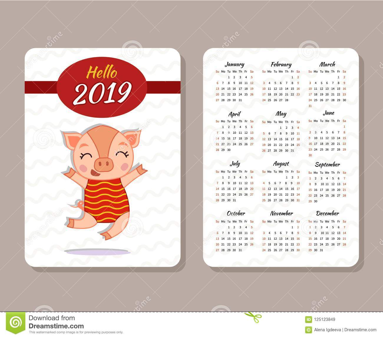 template of calendar stock vector illustration of collection