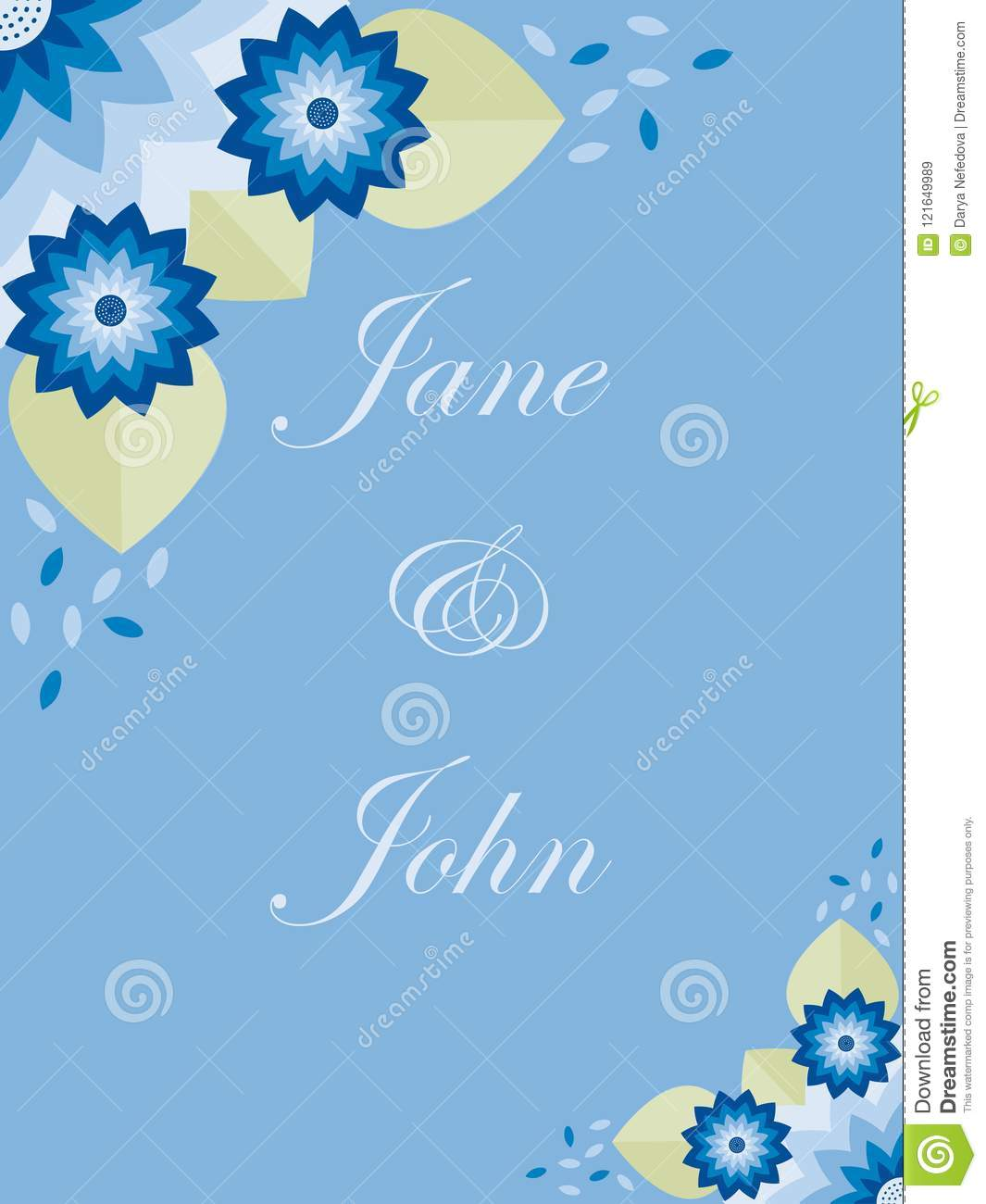 Greeting card with floral flat design stock vector illustration greeting card with floral flat design m4hsunfo