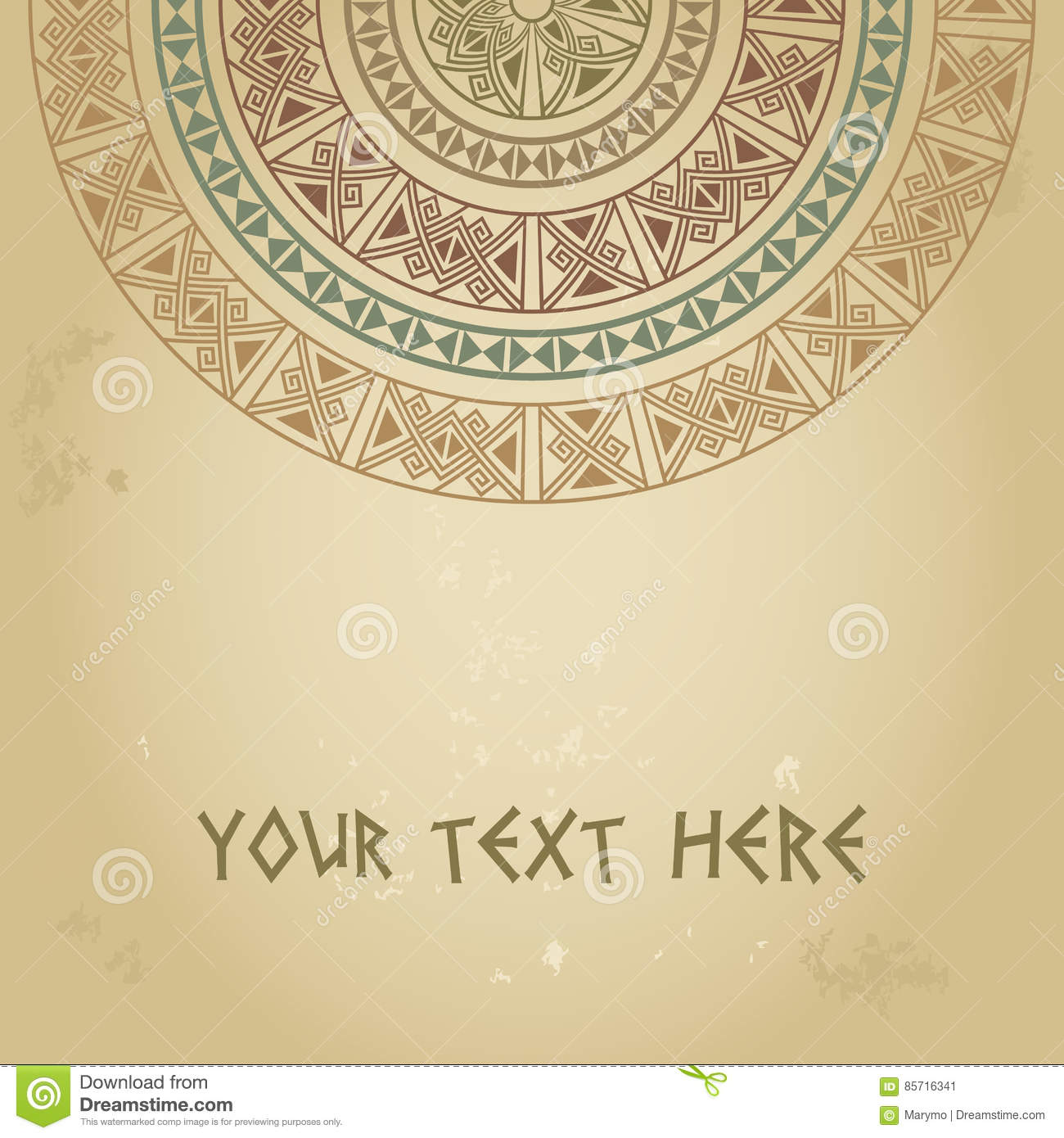 Template For Cards Invitations Banners With Ethnic