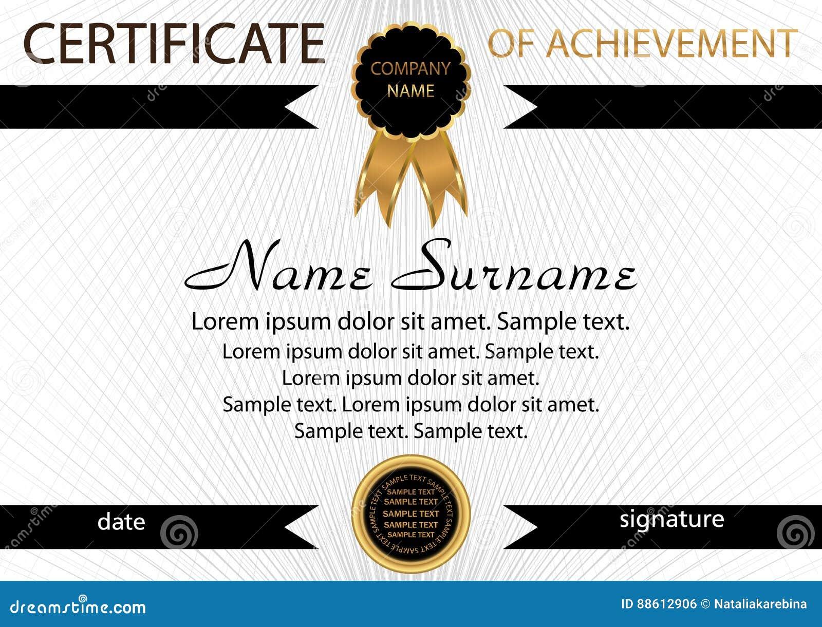 Achievement Certificate Templates