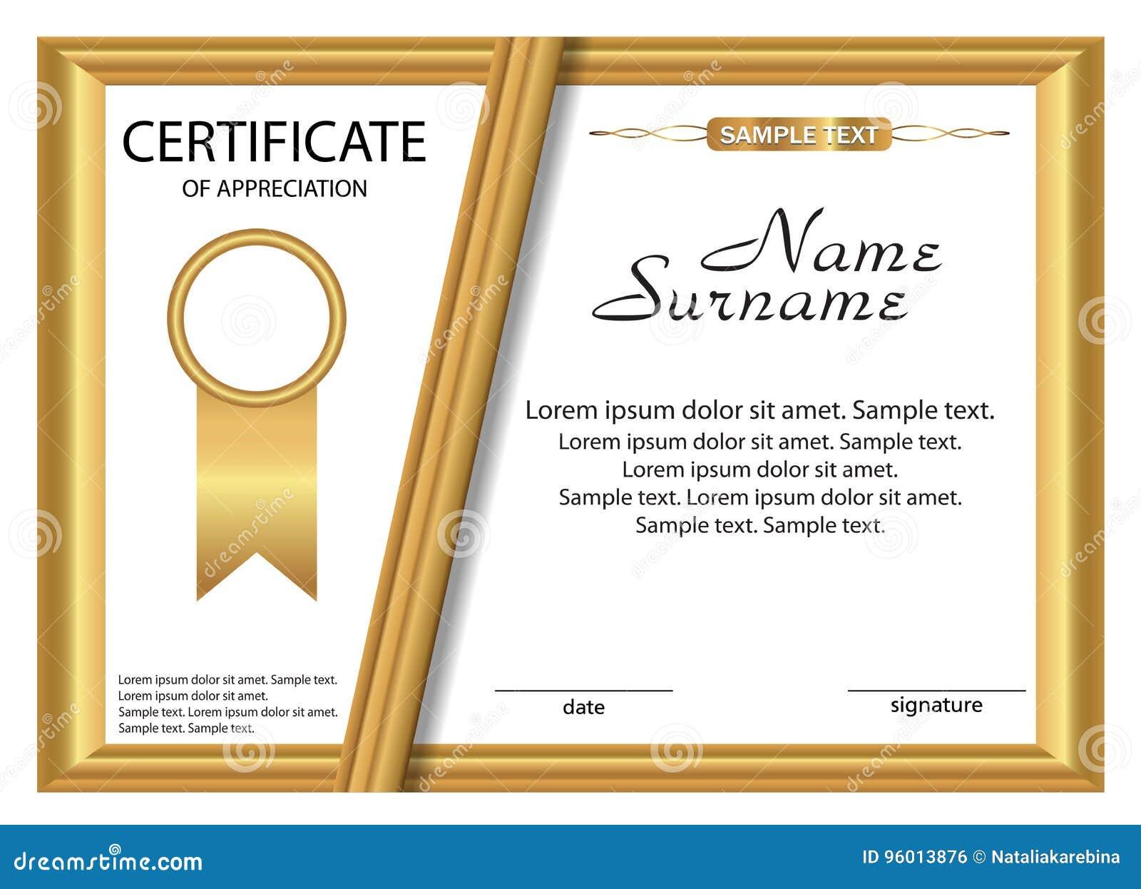 Certificate of appreciation template in vector cartoon vector certificate of appreciation template in vector cartoon vector cartoondealer 67822931 yadclub Gallery
