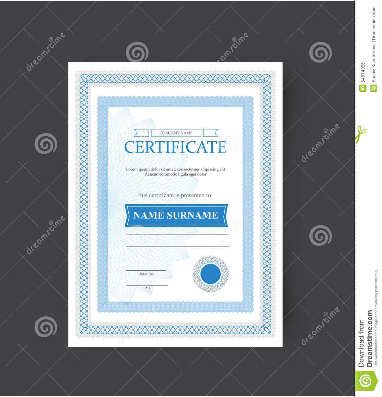 the template of the certificate congratulations vector illustration