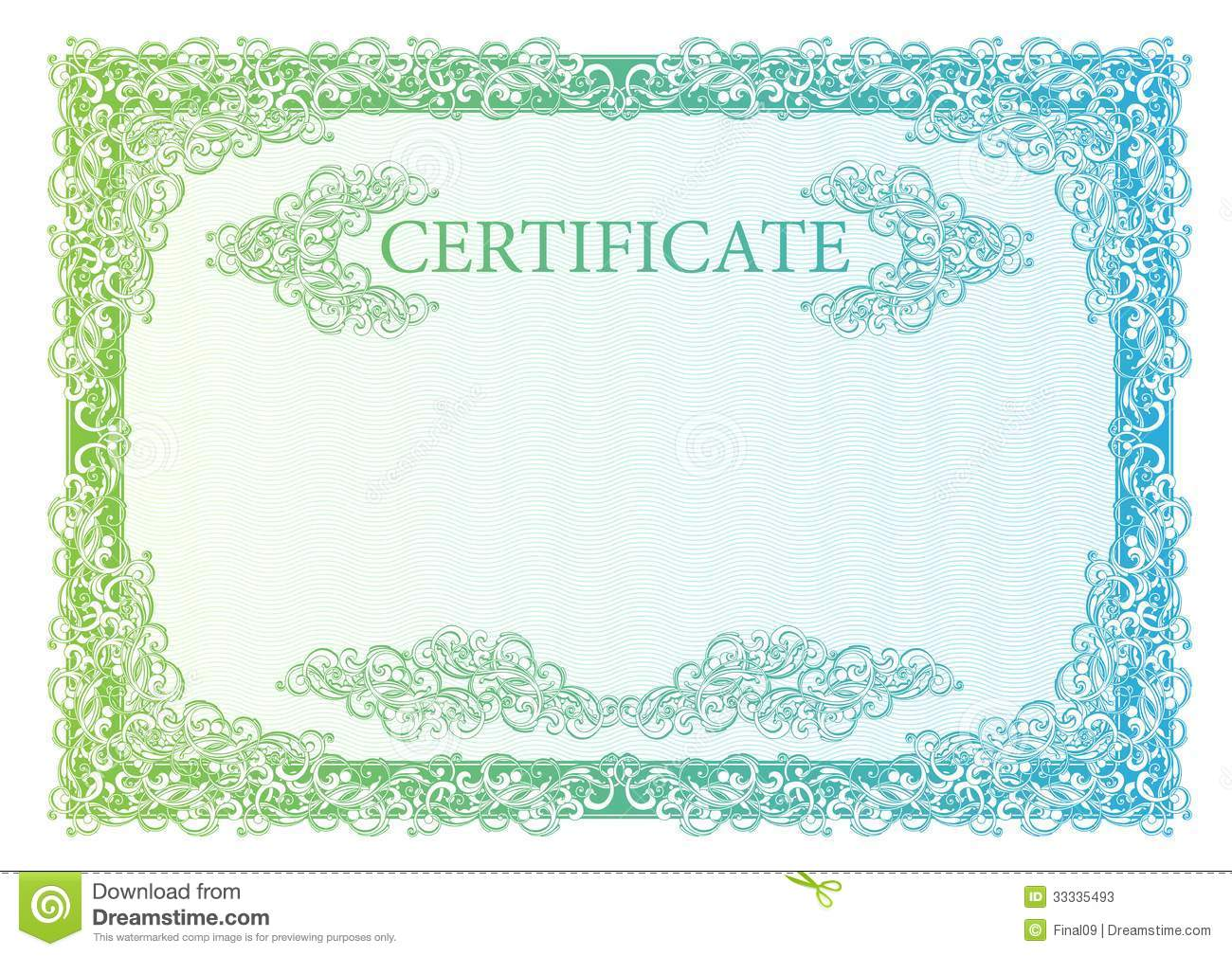 template certificate  currency and diplomas  stock vector