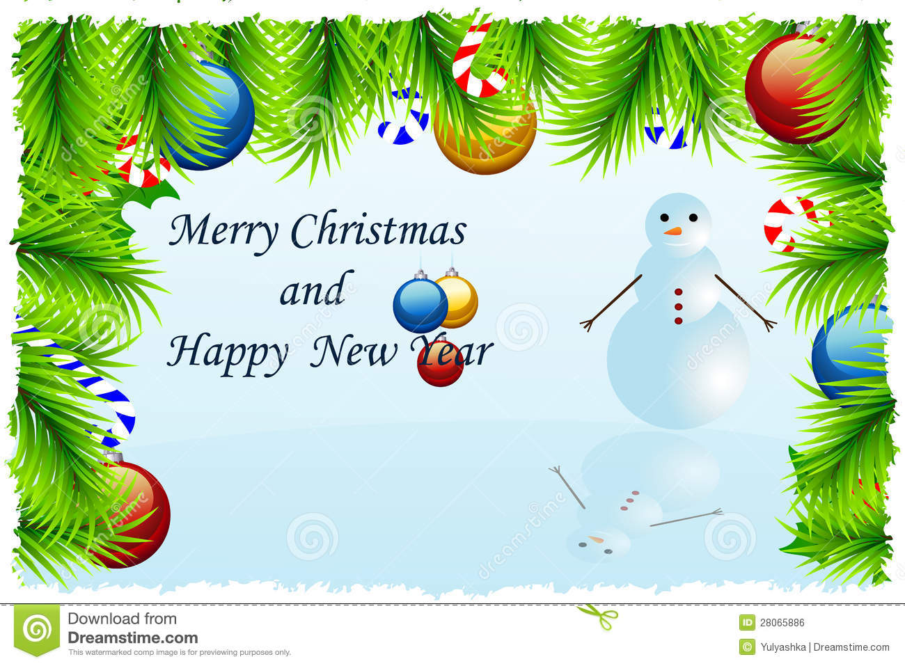Template Christmas Greeting Card Royalty Free Stock Image Image