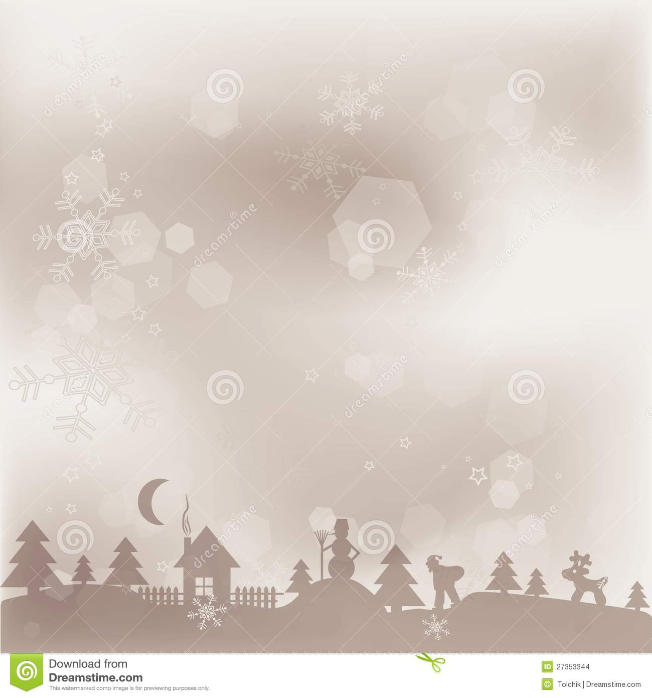 Template Christmas Greeting Card Background Stock Vector