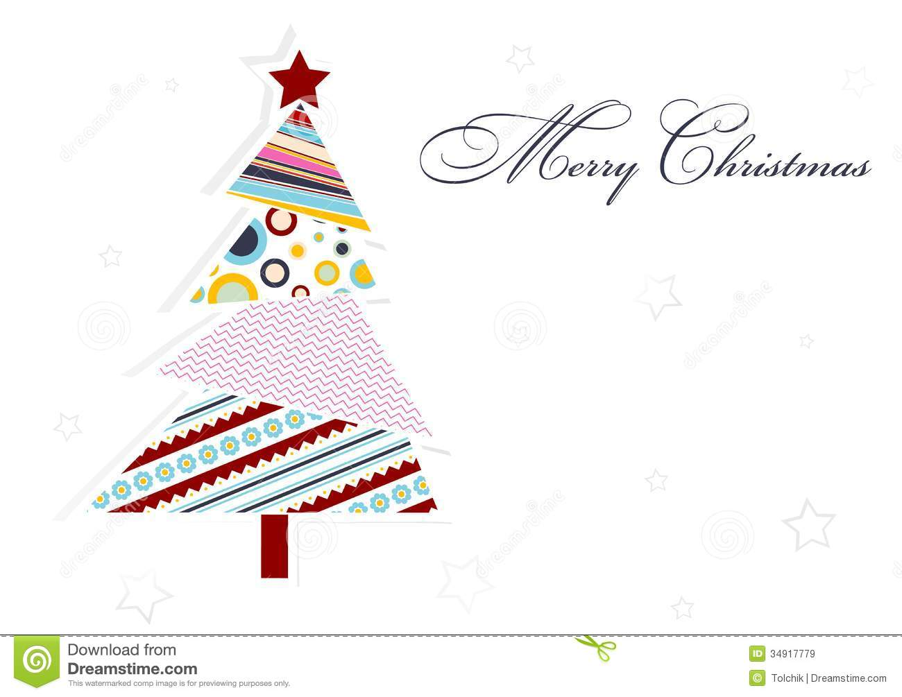 Template Christmas Greeting Card, Vector Stock Vector - Illustration ...