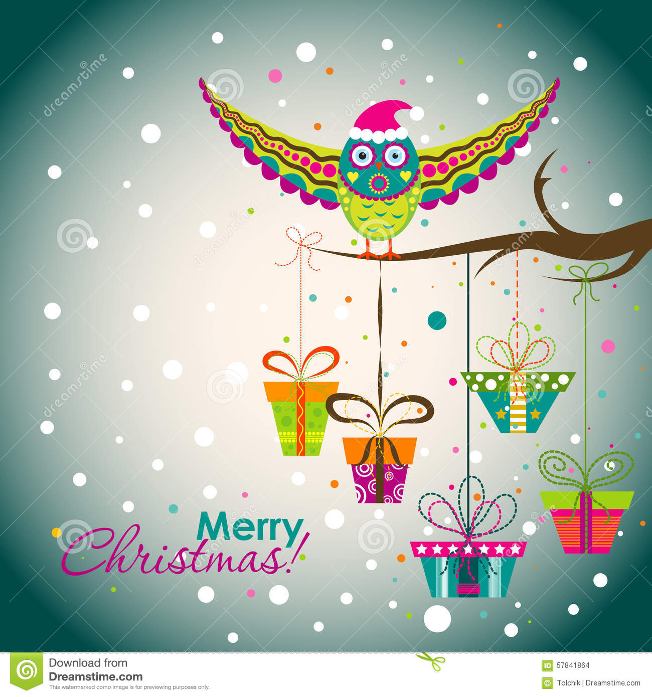 Template Christmas Greeting Card, Vector Stock Vector - Image ...
