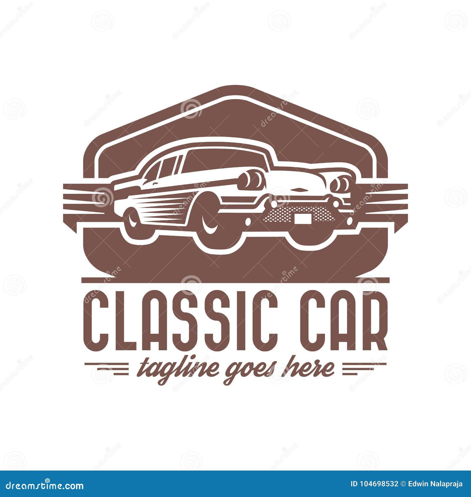 Classic Car Logo Template, Vintage Car Logo, Retro Car Logo Stock ...