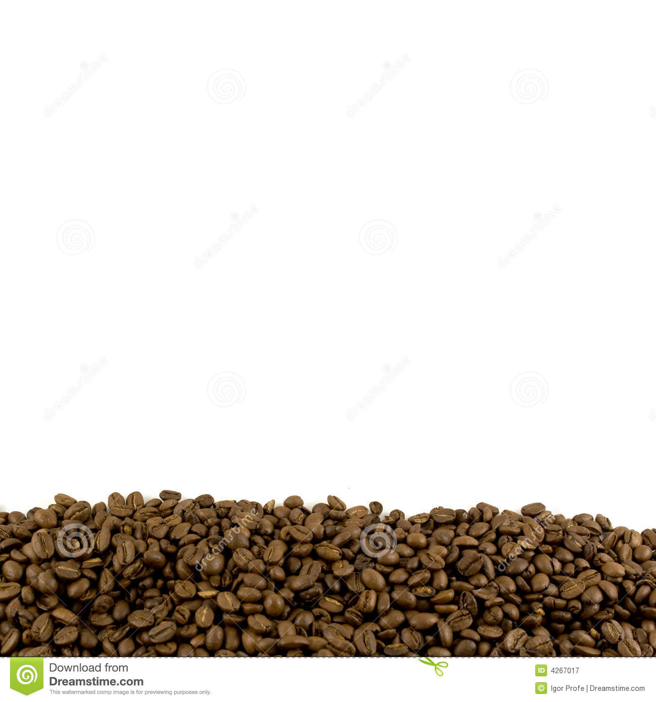 Template With Coffee Beans Footer Royalty Free Stock