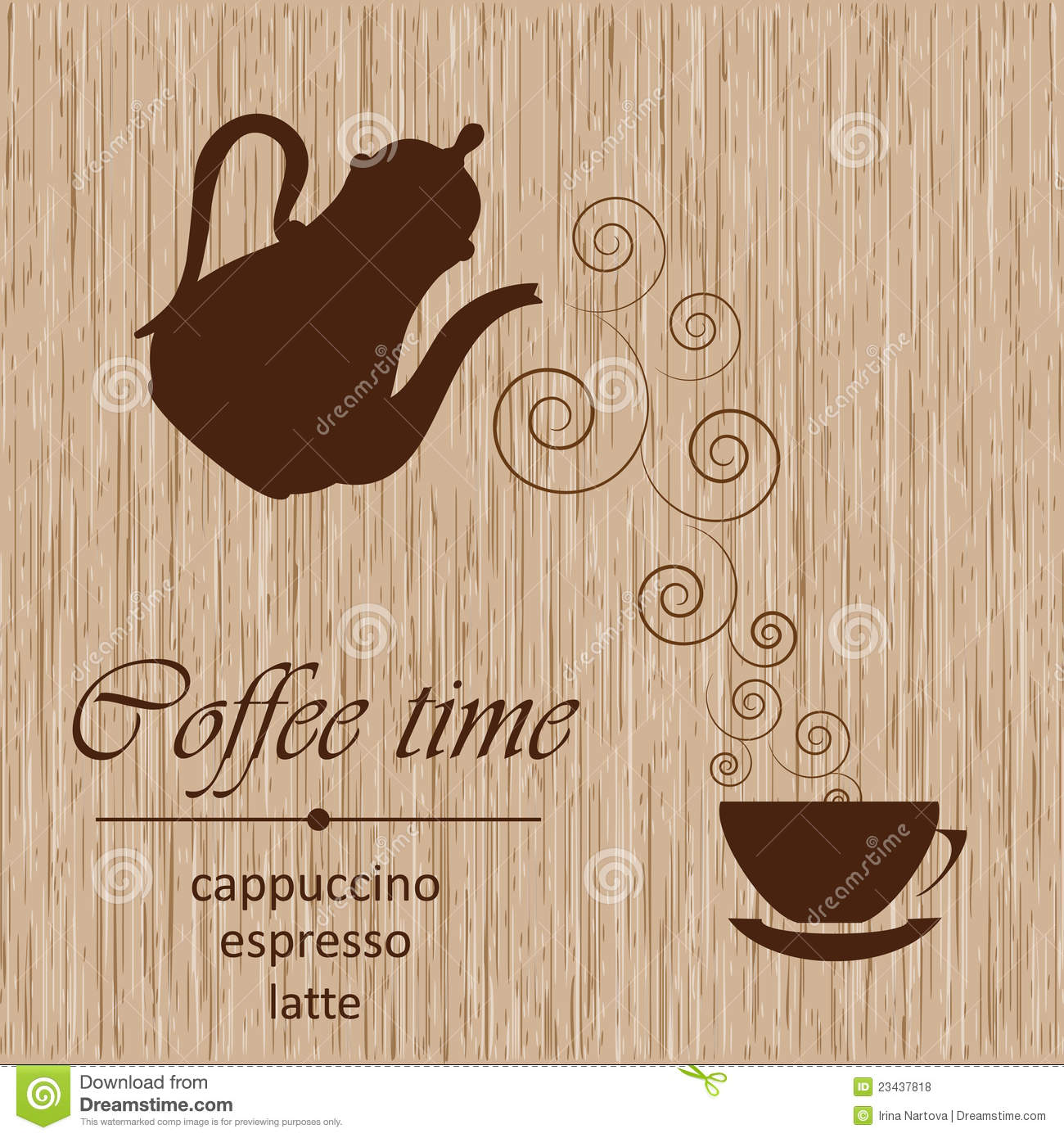 Template Of A Coffee Menu Royalty Free Stock Photos - Image: 23437818
