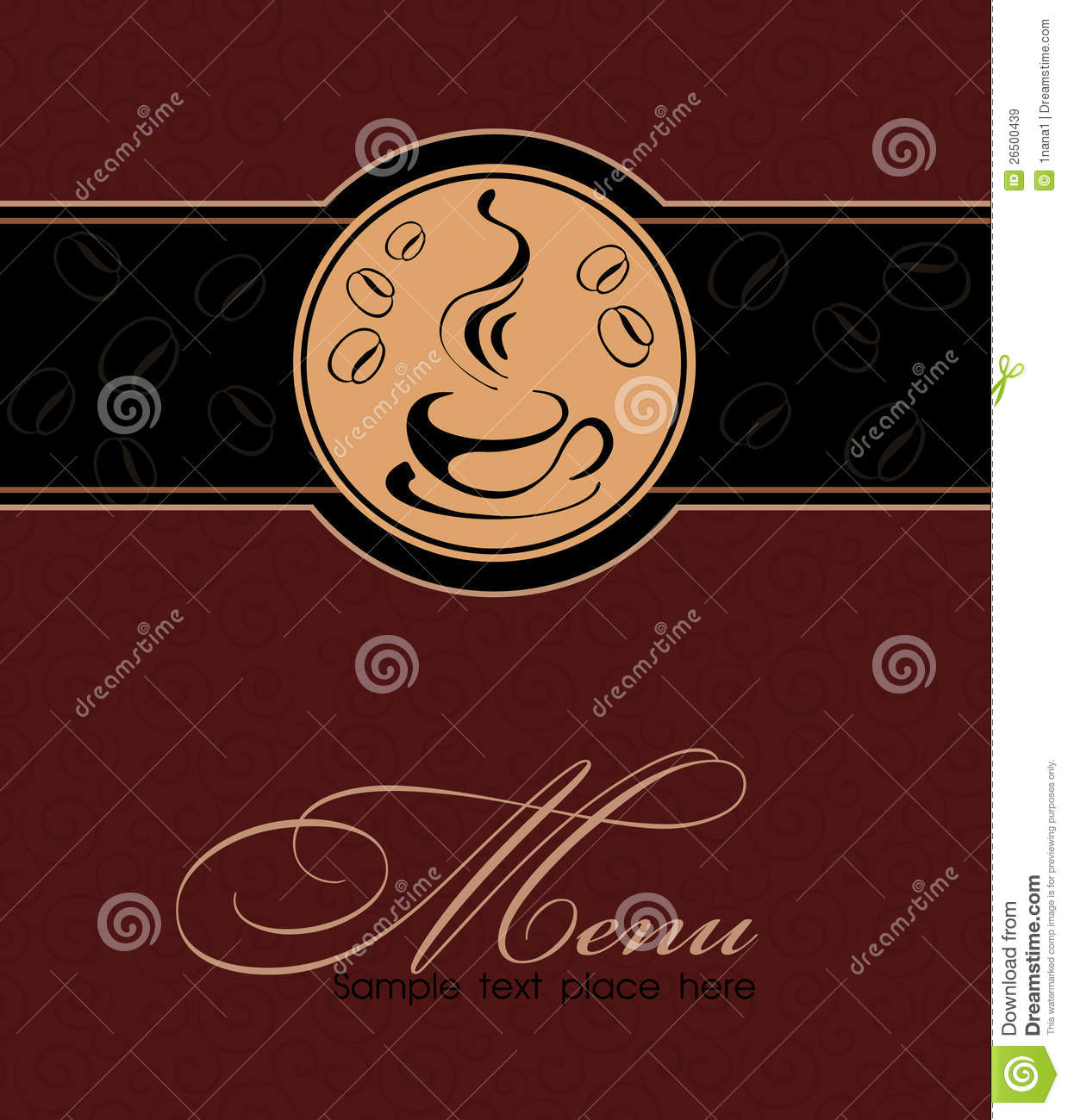 template coffee shop menu stock vector illustration of breakfast