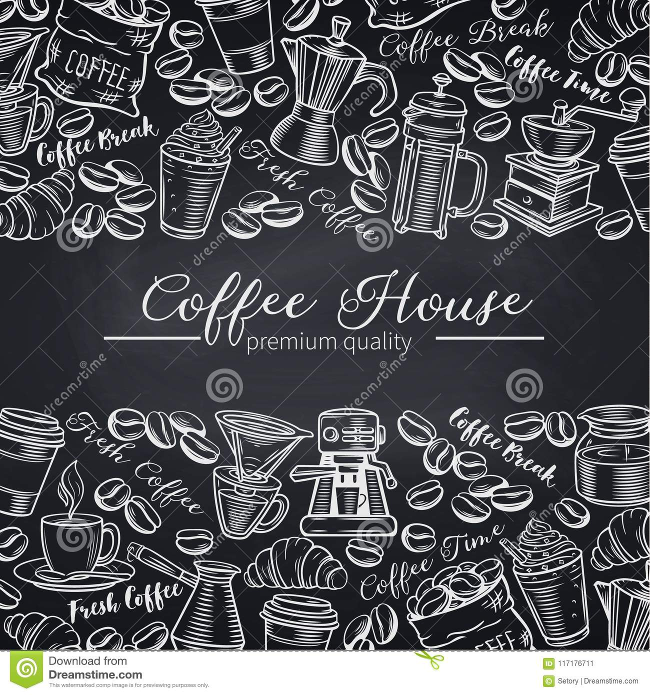 template coffee shop page design stock vector illustration of