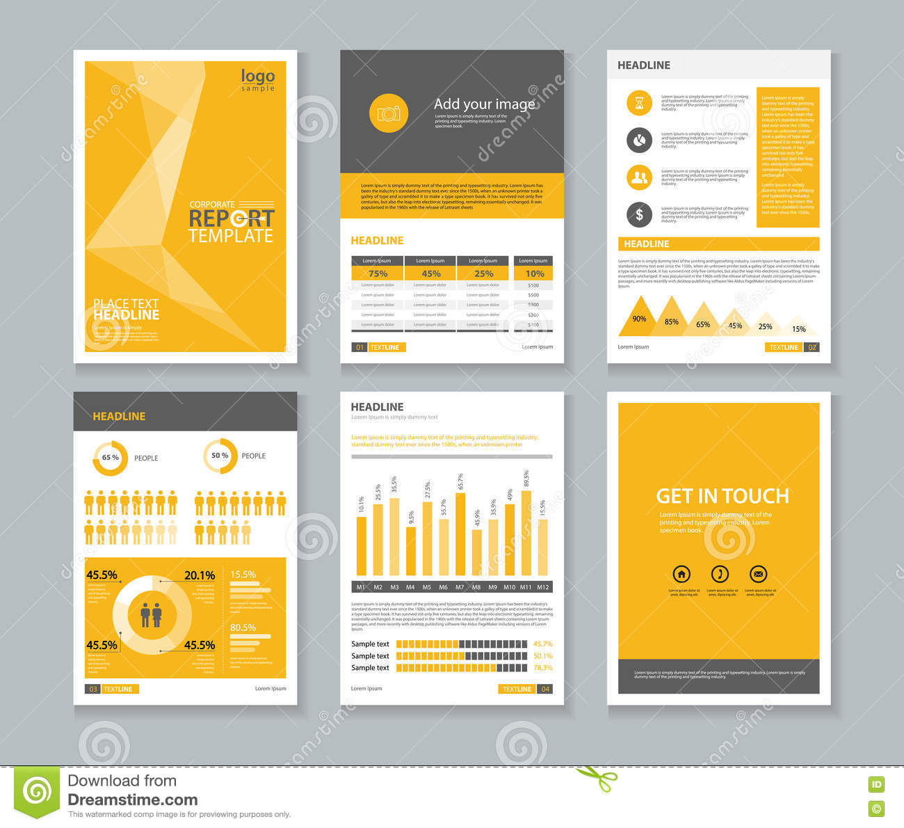 Template Company Profile Annual Report Brochure Flyerlayout - 1 page brochure template