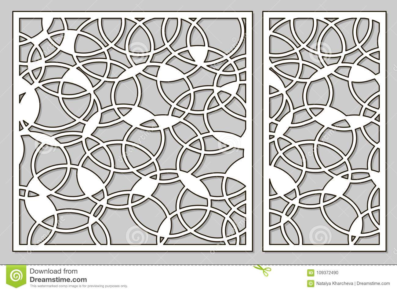 Template For Cutting. Abstract Circle Pattern. Laser Cut. Set Ra ...
