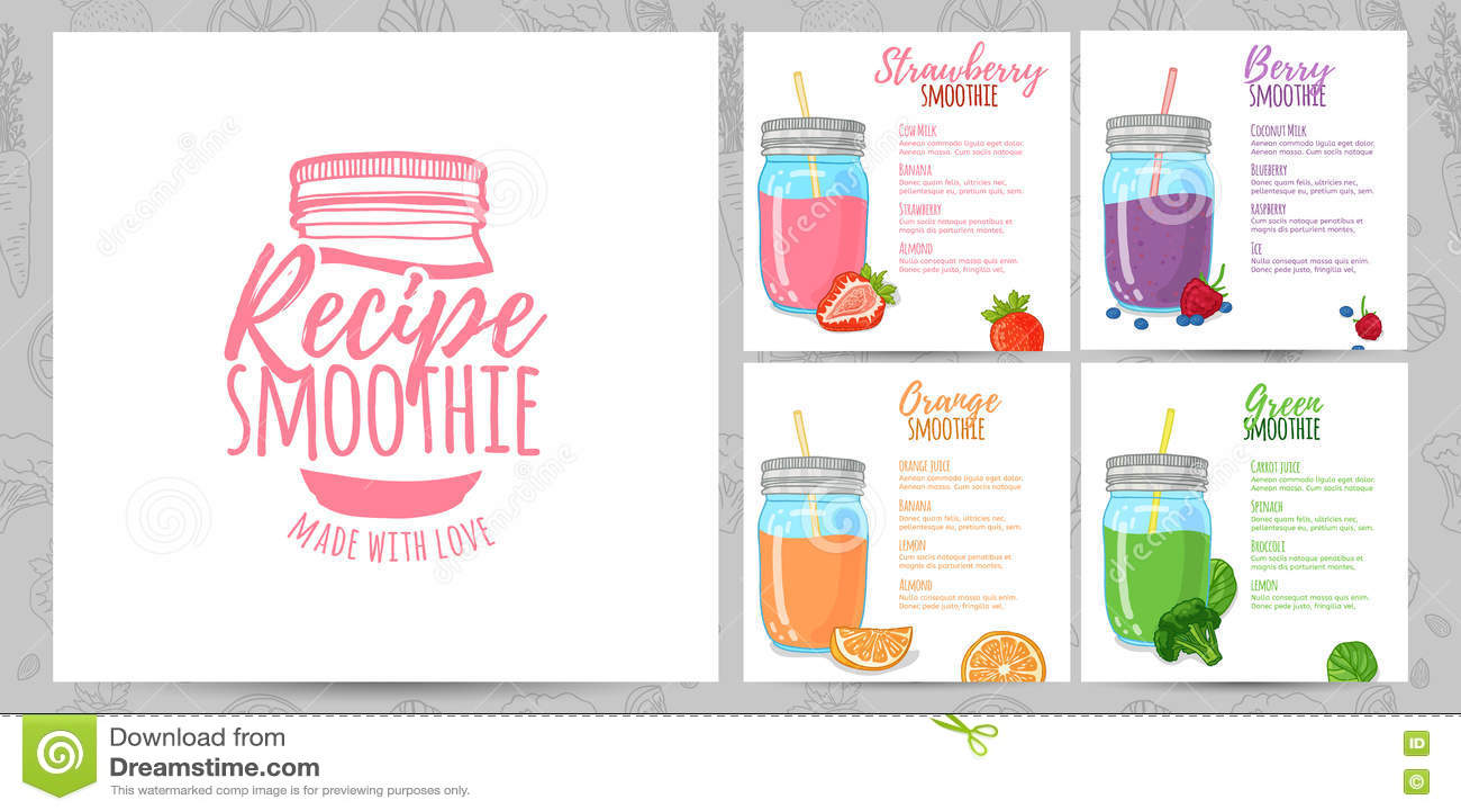 recipe card design template