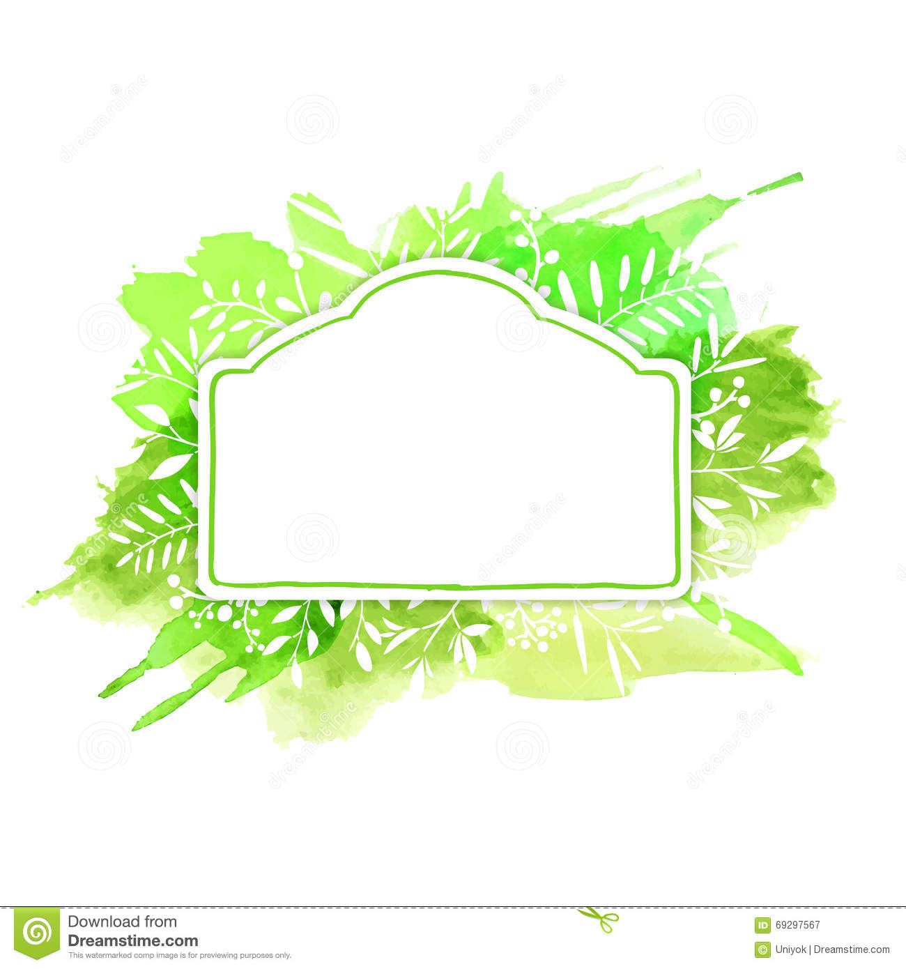 template design banners posters postcards cards with summer spring natural design frame in vintage style with stock vector illustration of card concept 69297567 dreamstime com