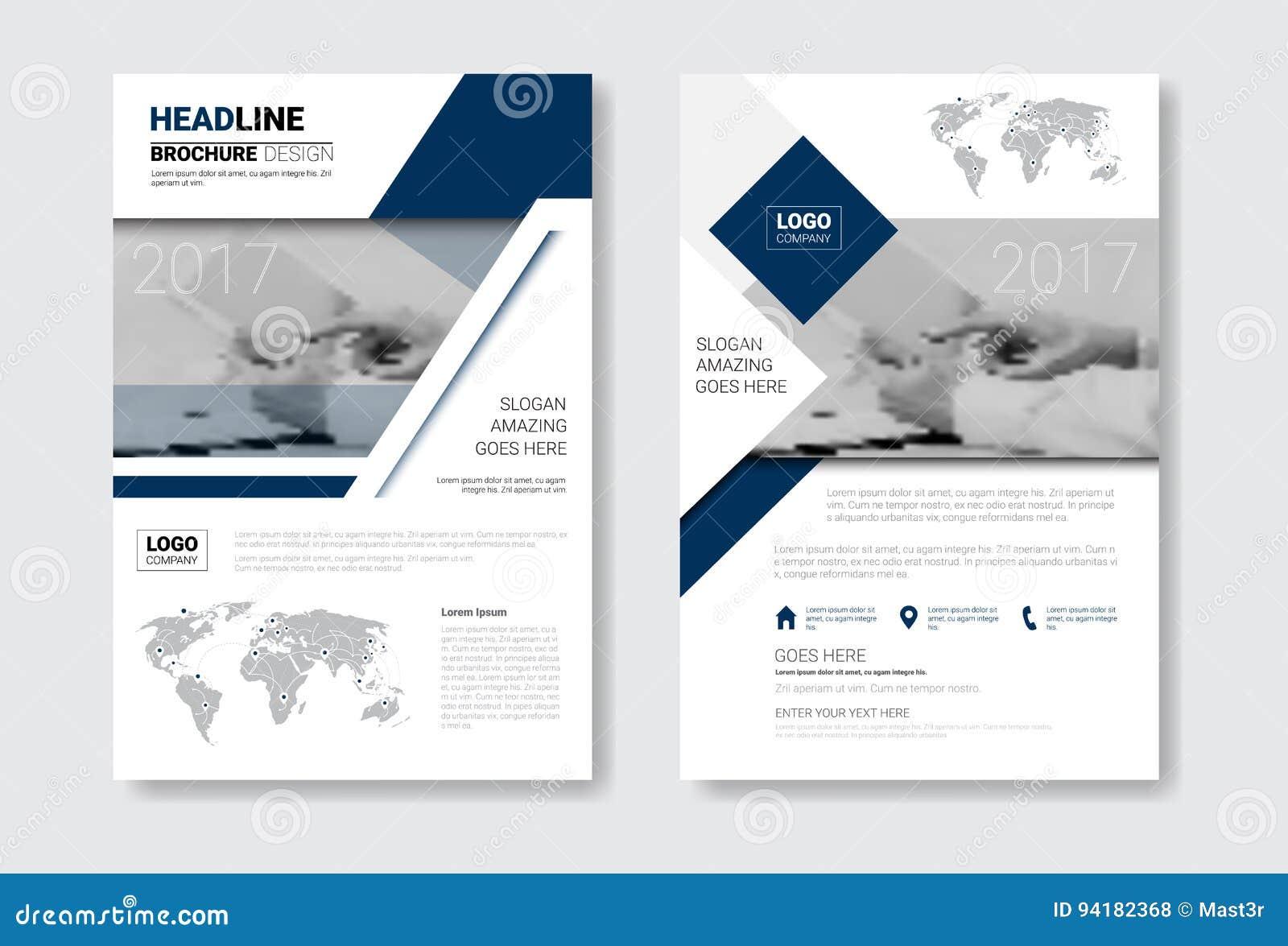 template design brochure set annual report magazine poster