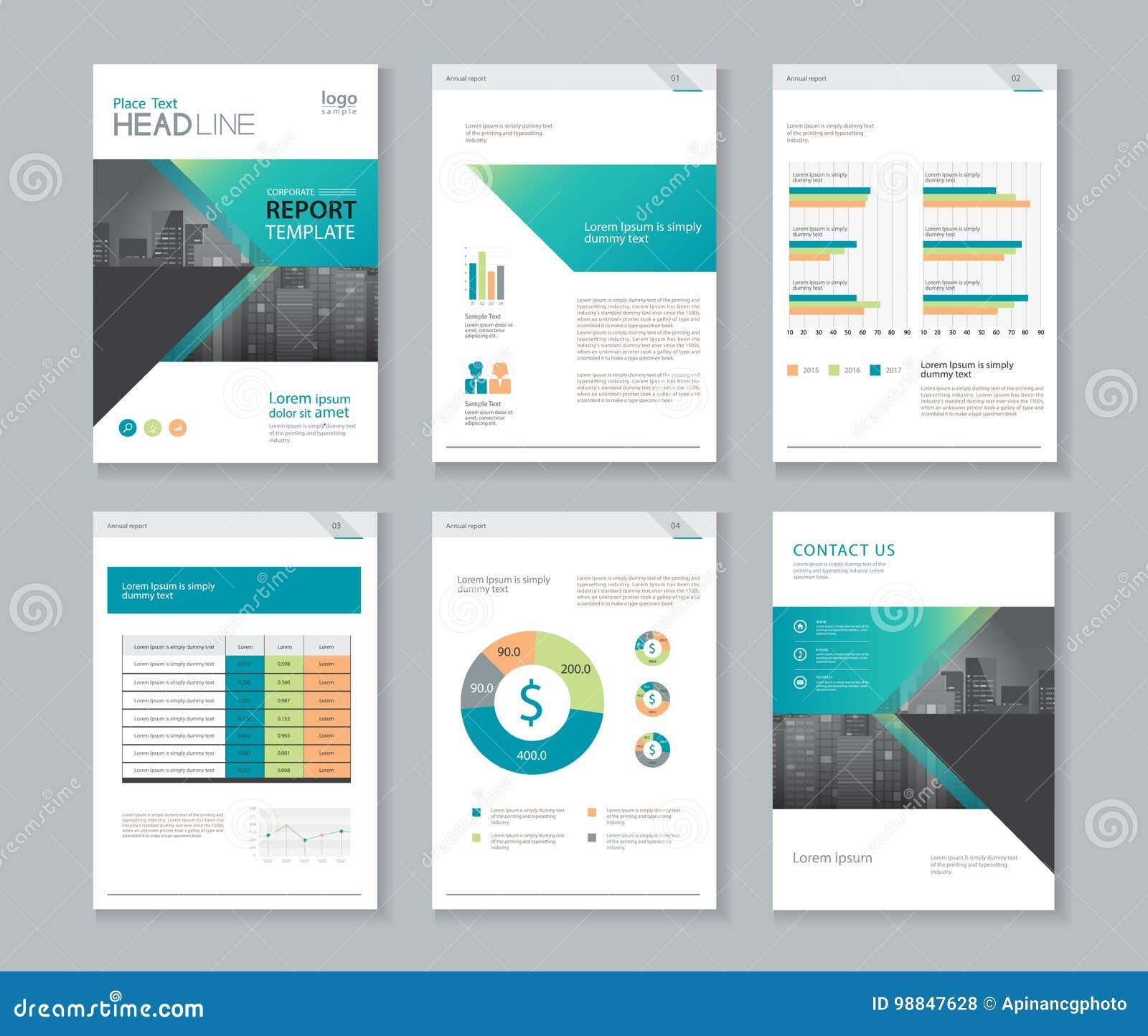 Template Design For Company Profile Annual Report Brochure