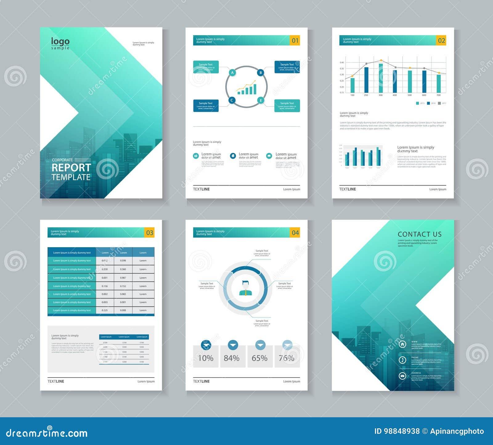 Template Design For Company Profile , Annual Report