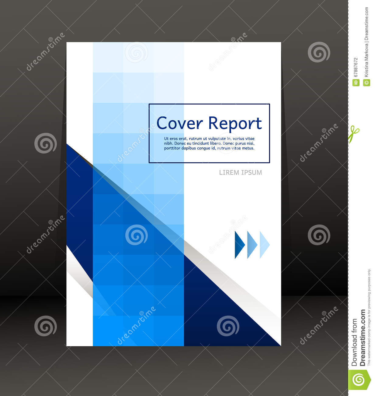 Template Design for Cover Report. Flyer. Poster in A4 size.