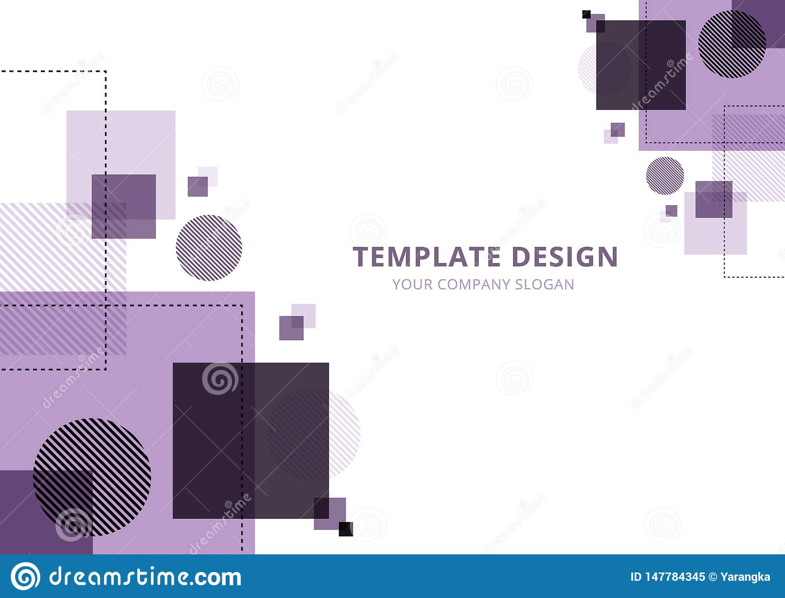 Template Design Geometric abstract  background , Purple Tone