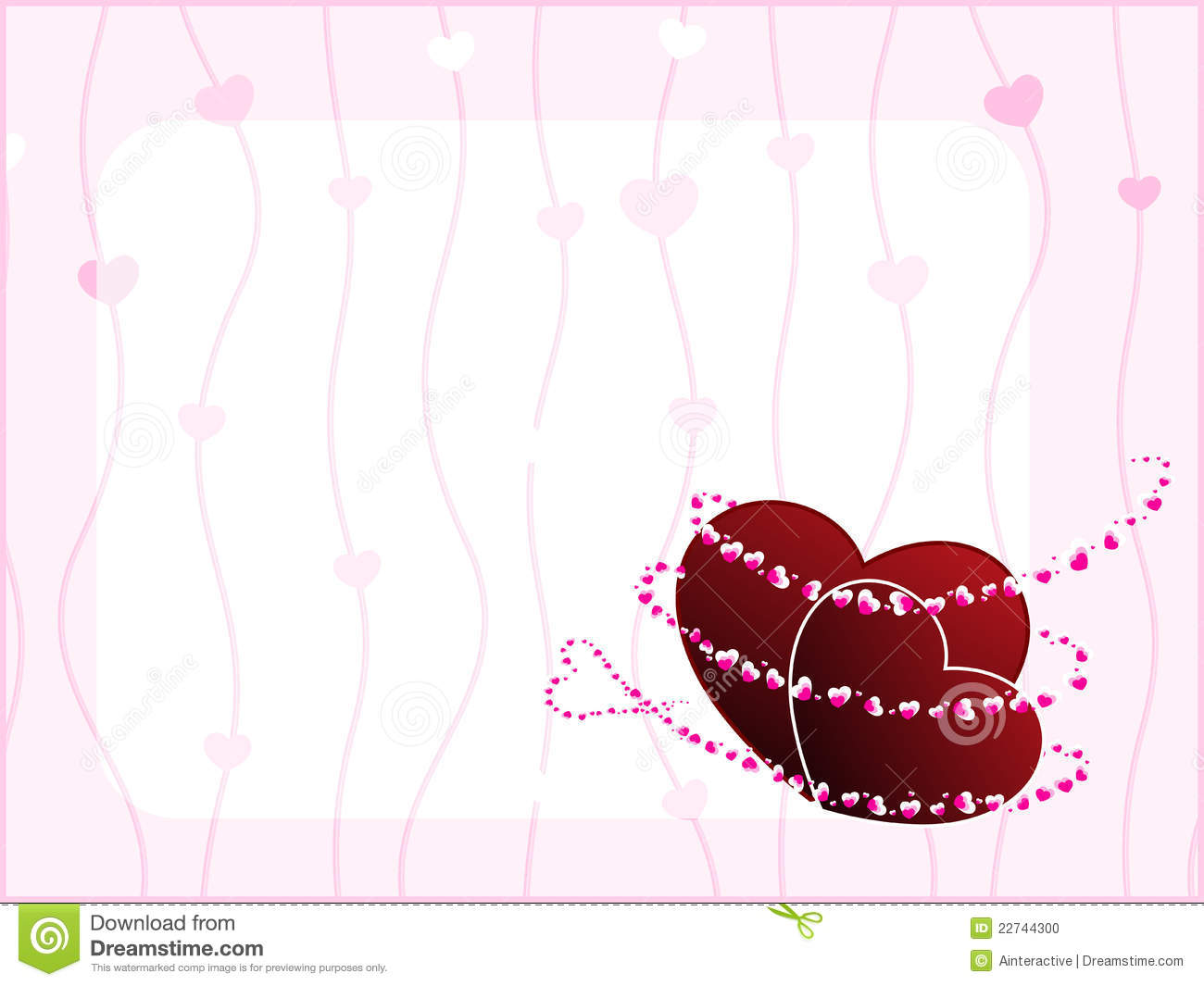 Template design greeting card for valentine day stock for Valentines day card design