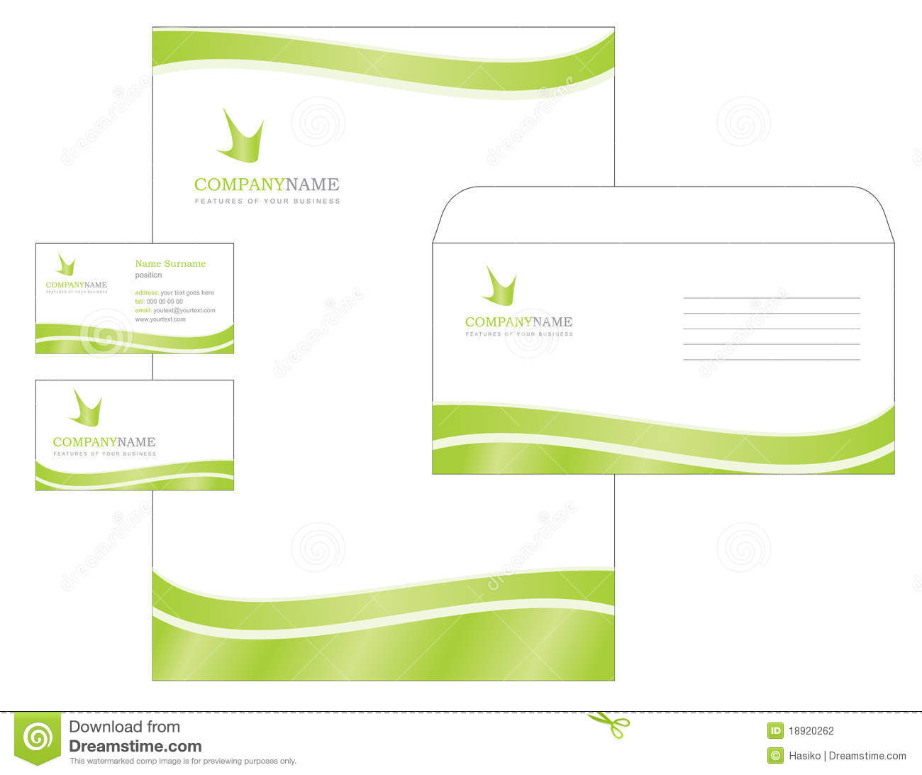 Template Design With Logo Blank Visiting Card A Stock Photography