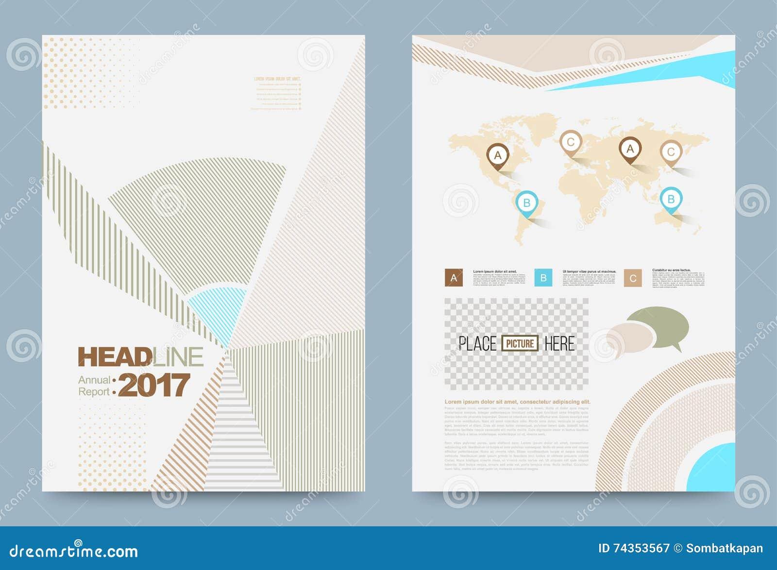 printing press brochure template - template design stock vector image 74353567