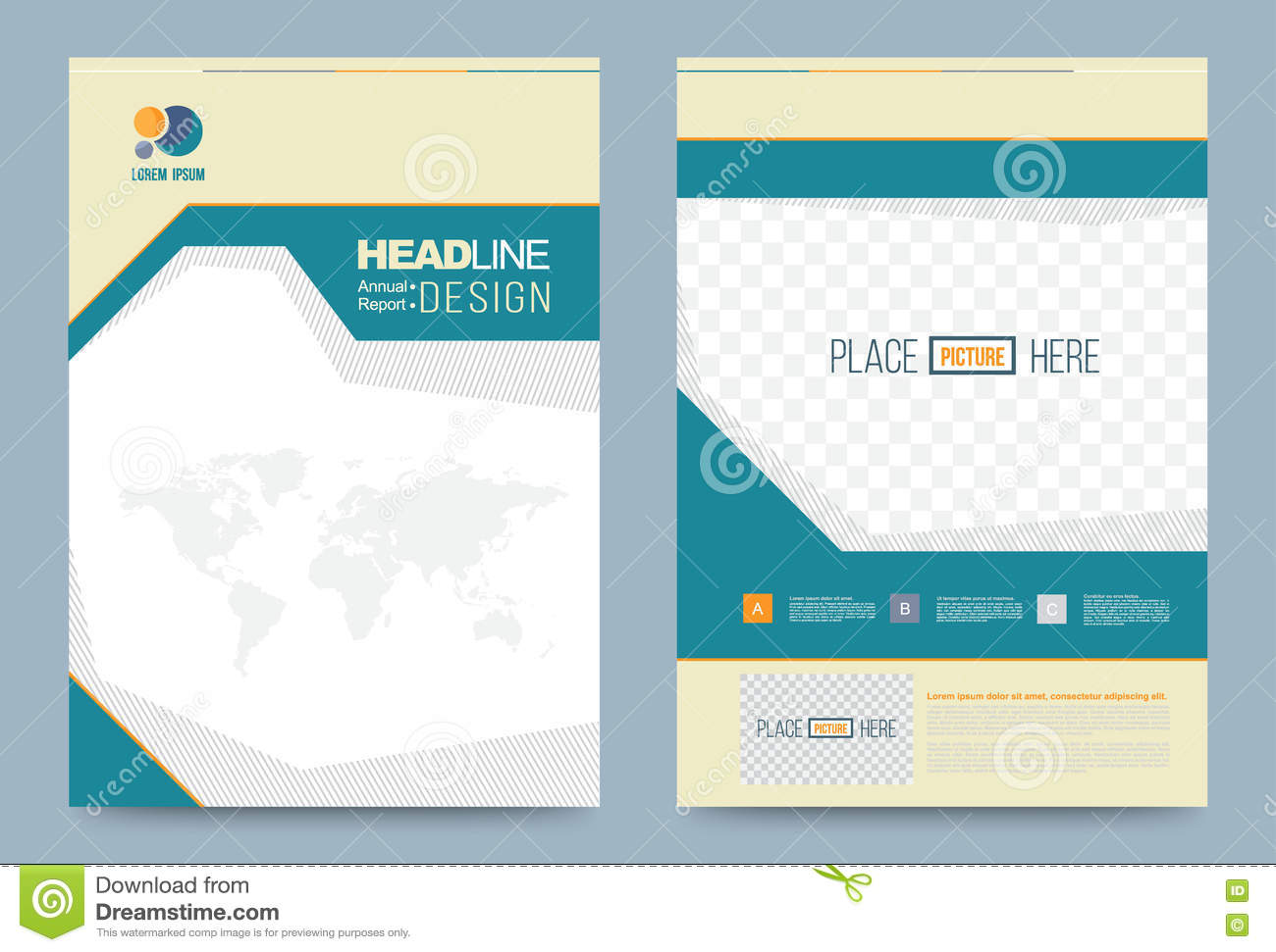 Template design stock vector image 74353577 for Printing press brochure template