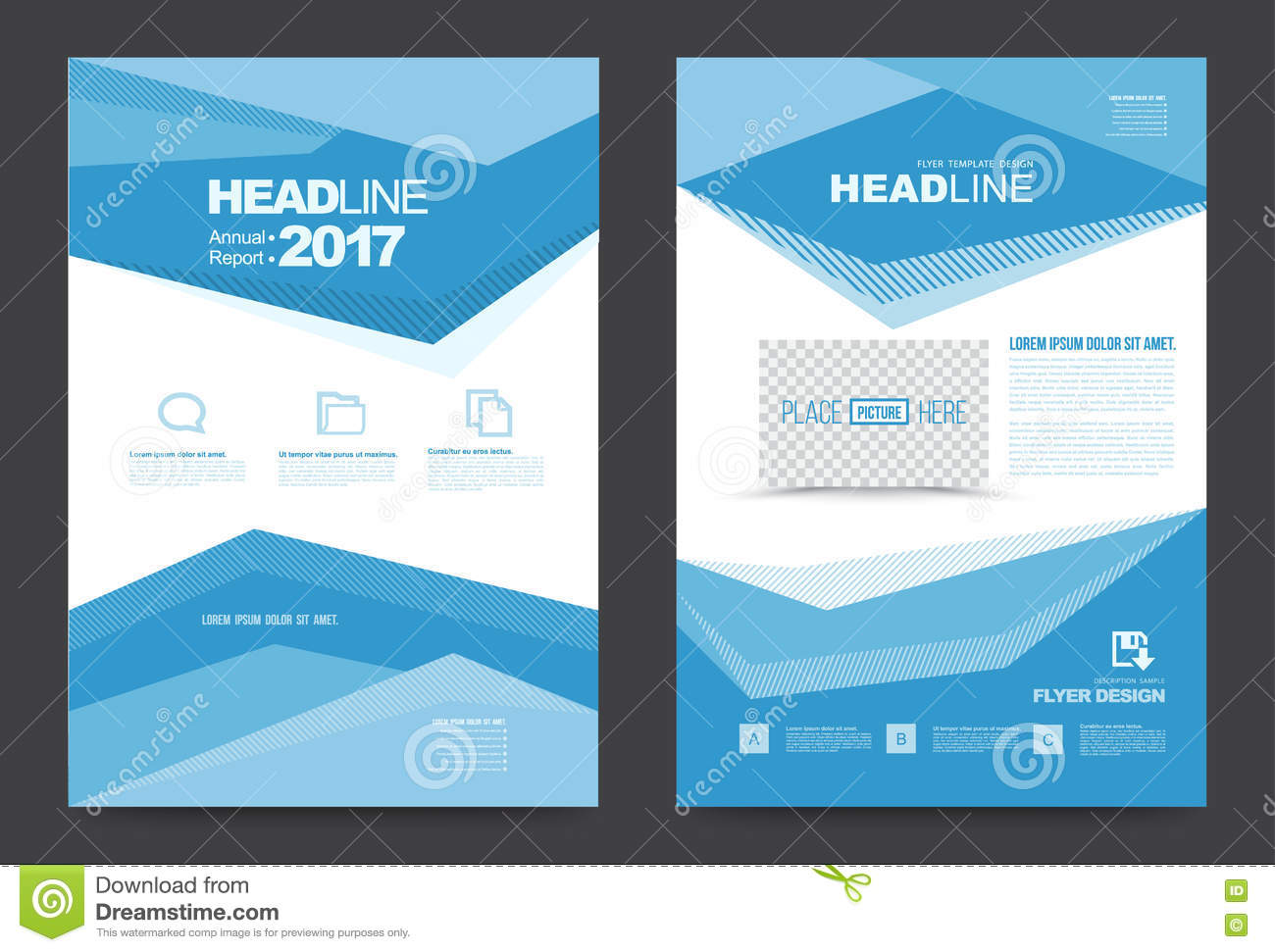 Template design stock vector image 74353638 for Printing press brochure template