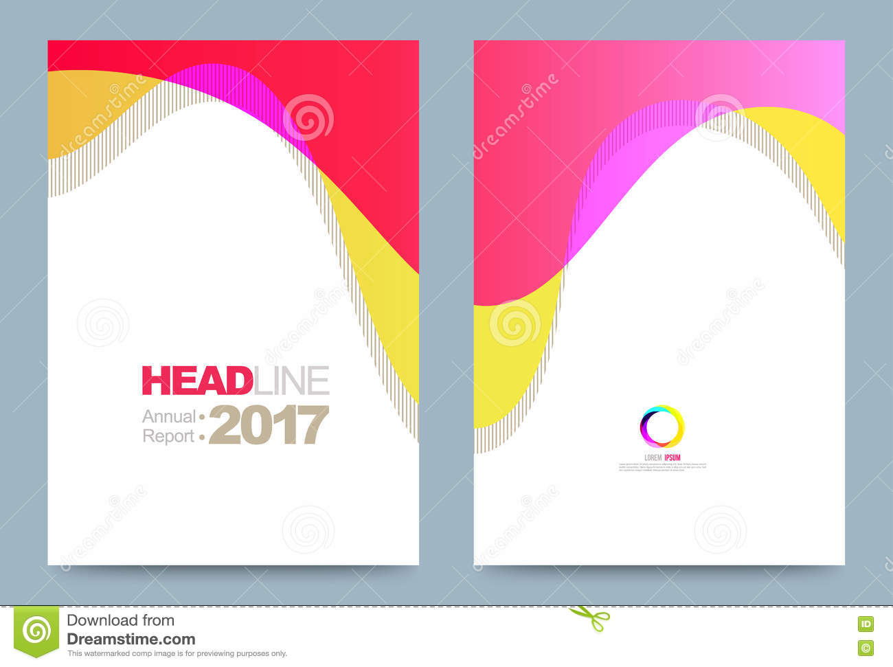 Template design stock vector image 74353666 for Printing press brochure template