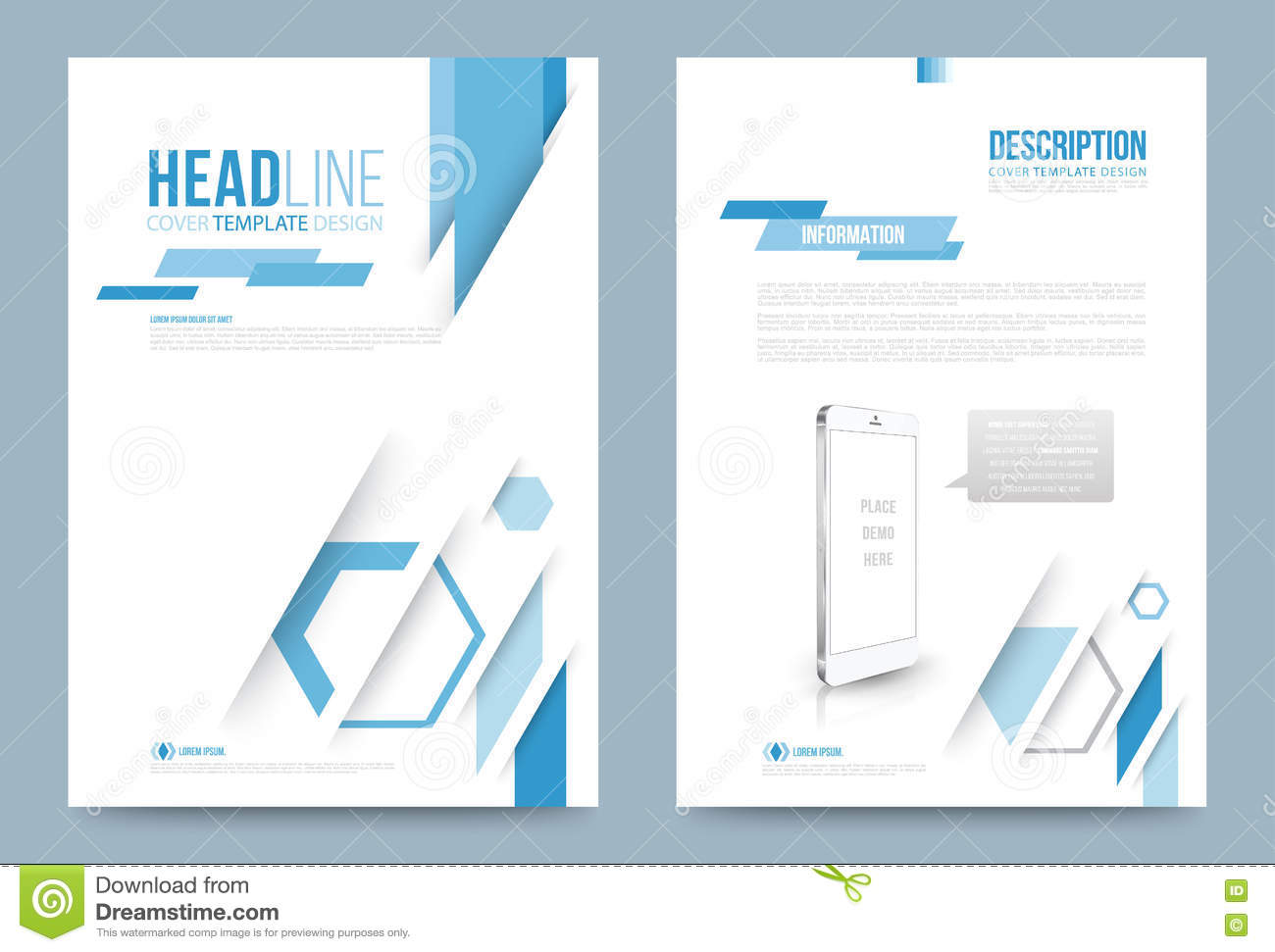 printing press brochure template - template design stock vector image 74353694