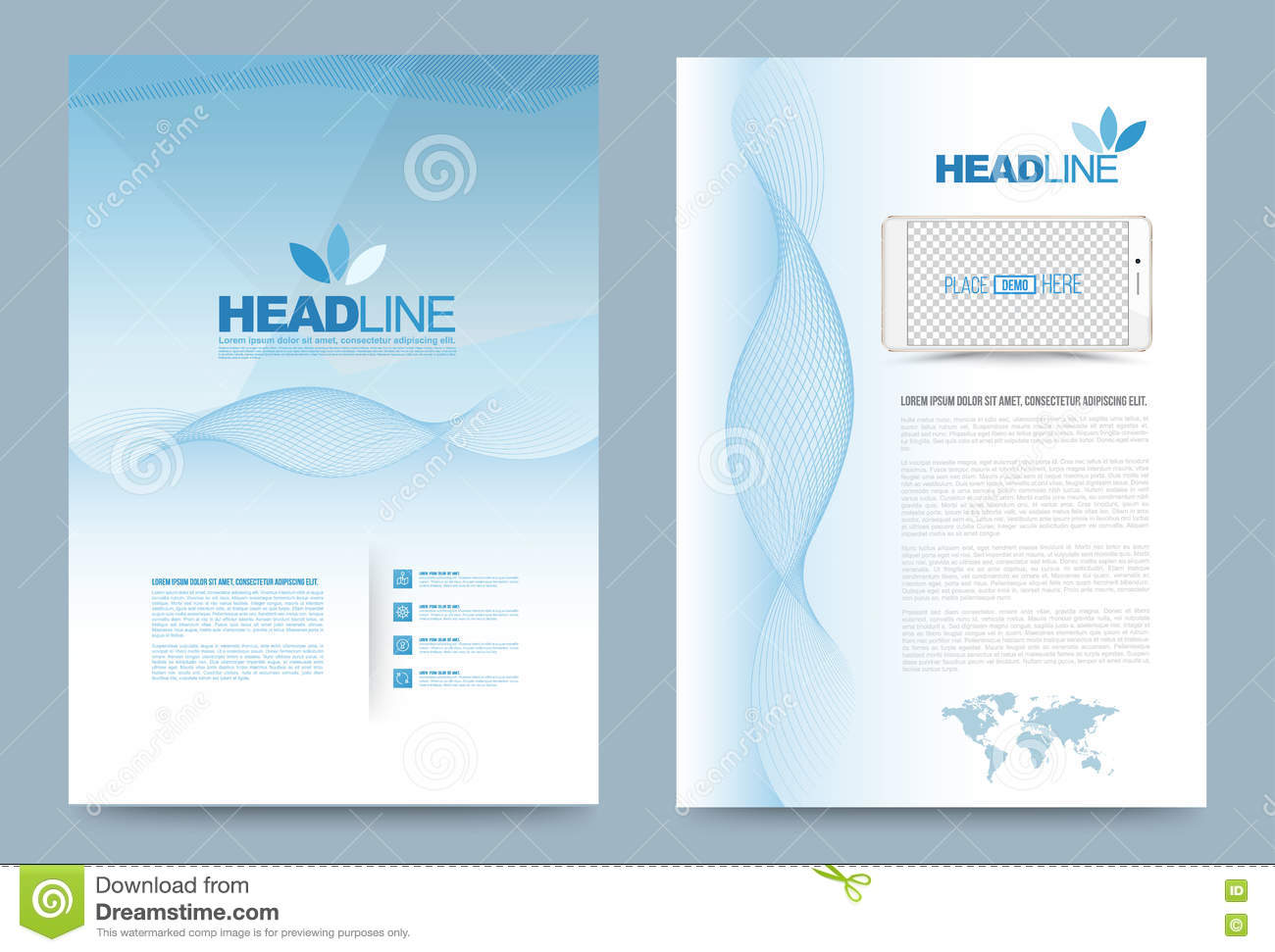 Template design stock vector image 74353707 for Printing press brochure template