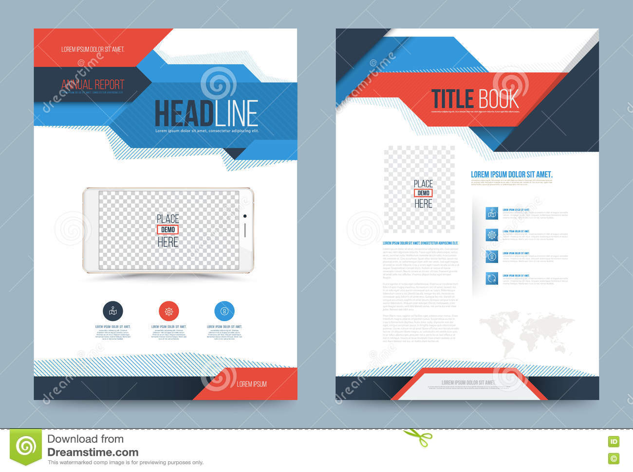 Template design stock vector image 74353724 for Printing press brochure template