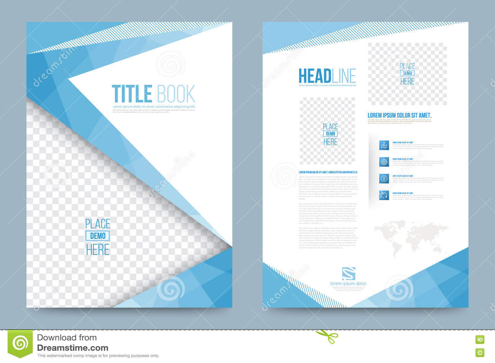 printing press brochure template - template design stock vector illustration of magazine