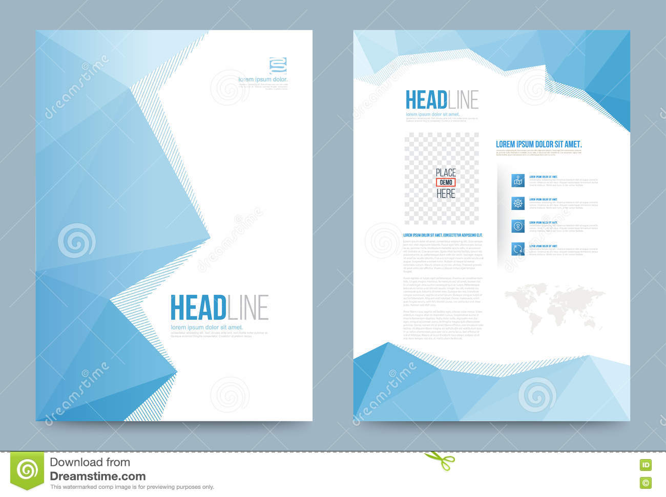 Template design stock vector image 74353736 for Printing press brochure template