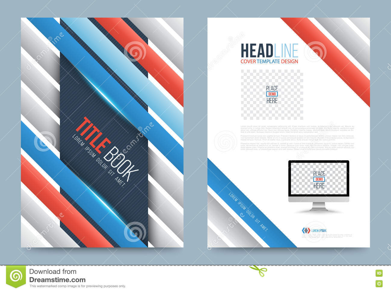 Template design stock vector image 74353741 for Printing press brochure template