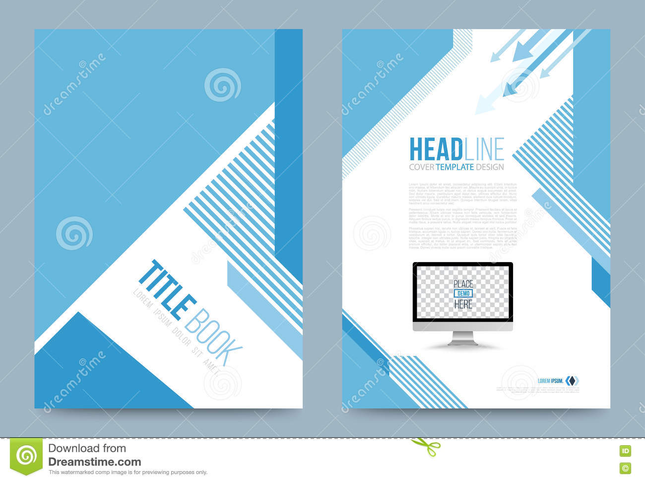 Template design stock vector image 74353754 for Printing press brochure template