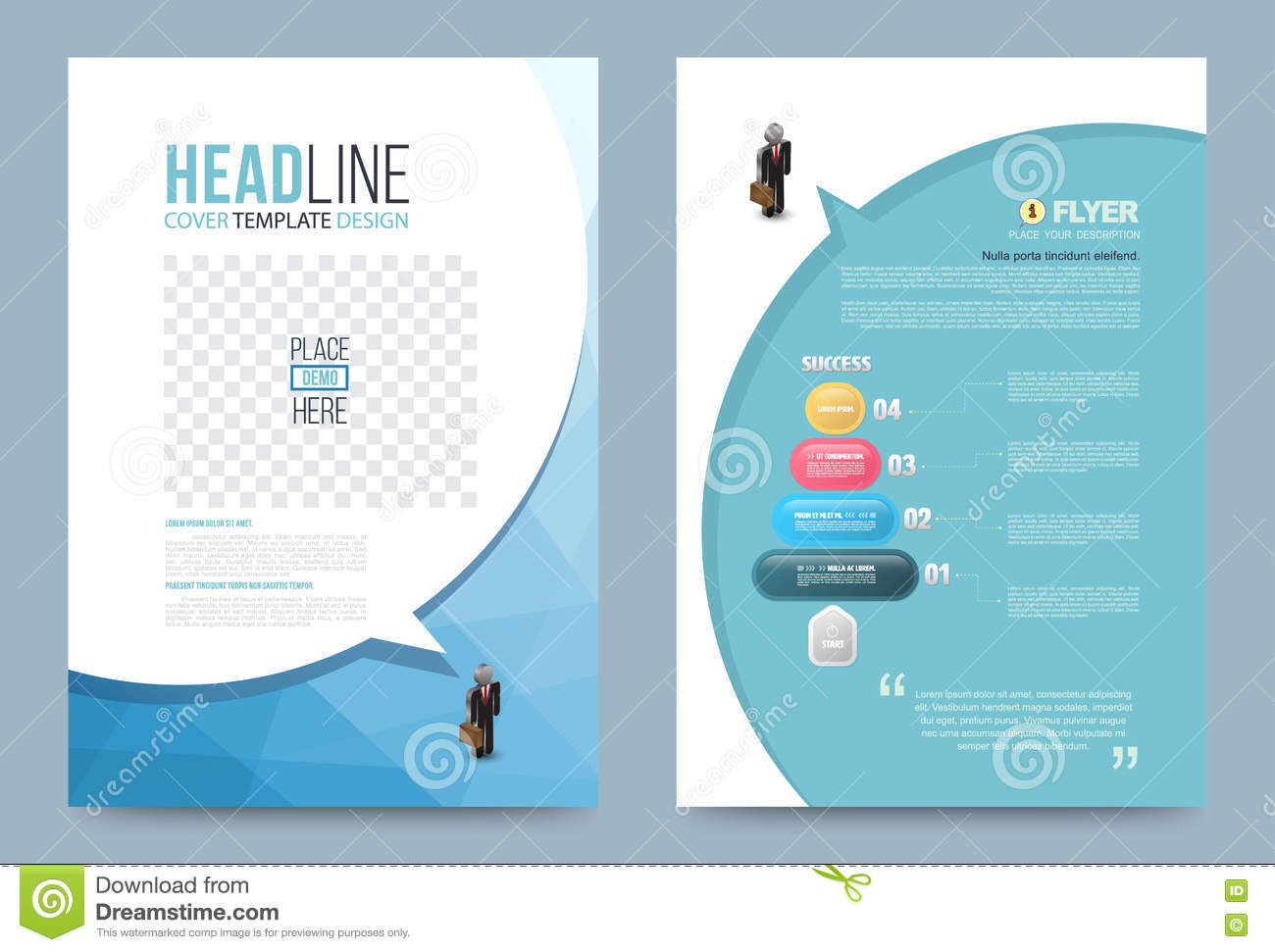 printing press brochure template template design stock vector image 74353776