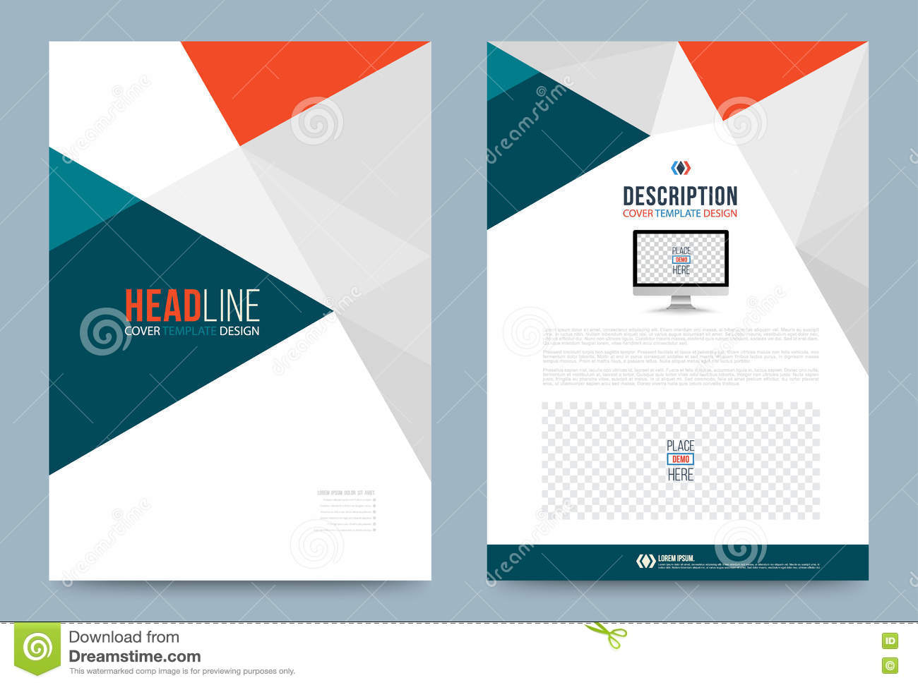 Template design stock vector image 74353783 for Printing press brochure template