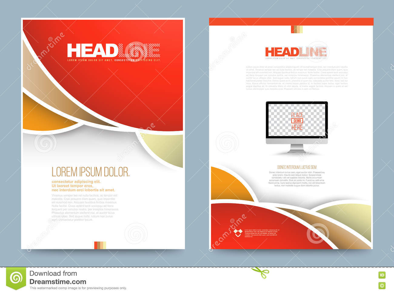 Template design stock vector image 74353840 for Printing press brochure template