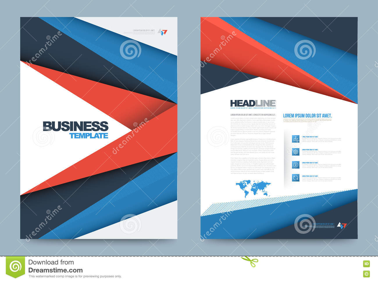 Template design stock vector image 74353850 for Printing press brochure template
