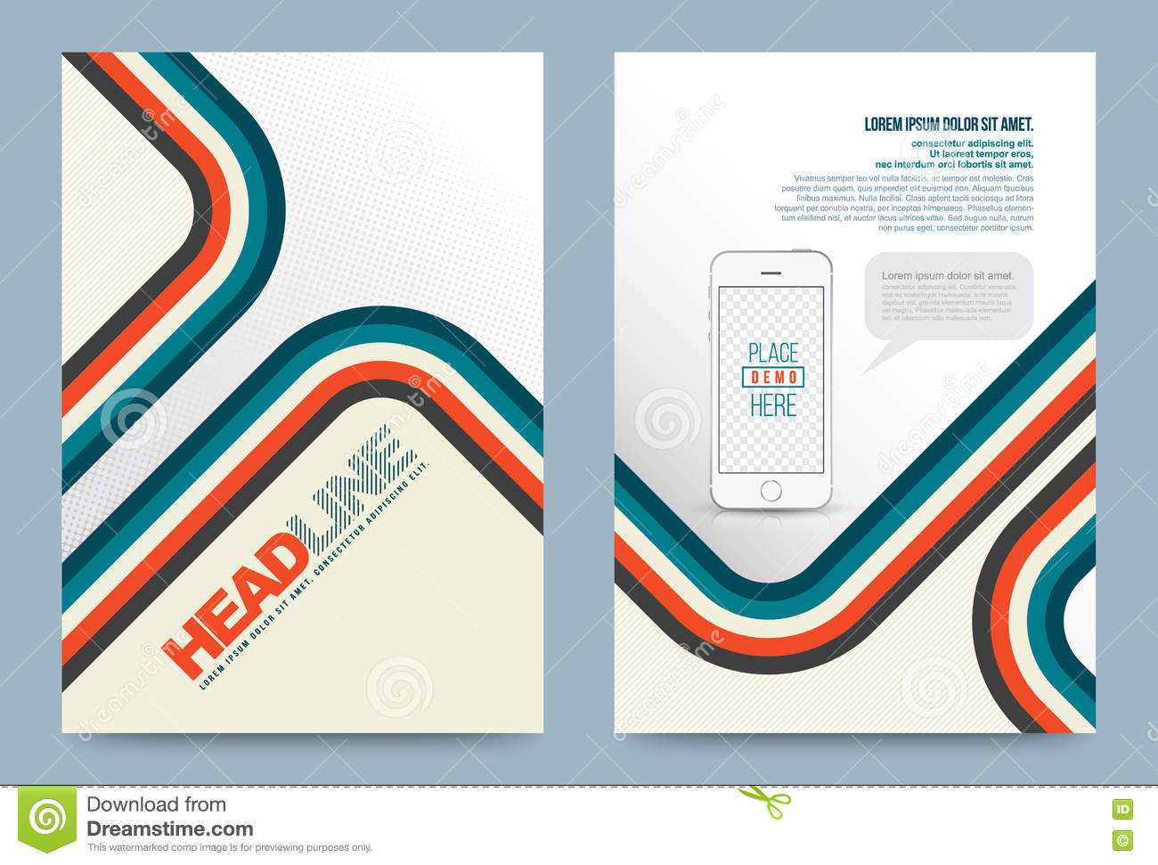 template design fold infographics