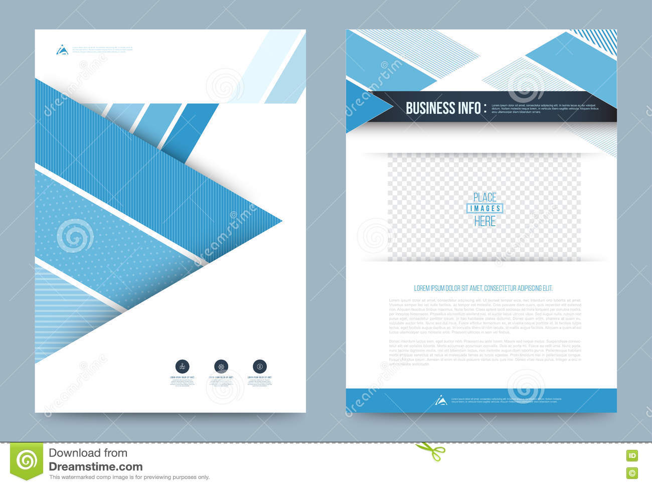 template design layout advertise