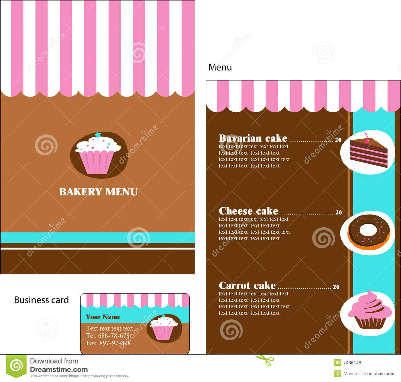 Template Designs Of Bakery And Restaurant Menu  Dessert Menu Template