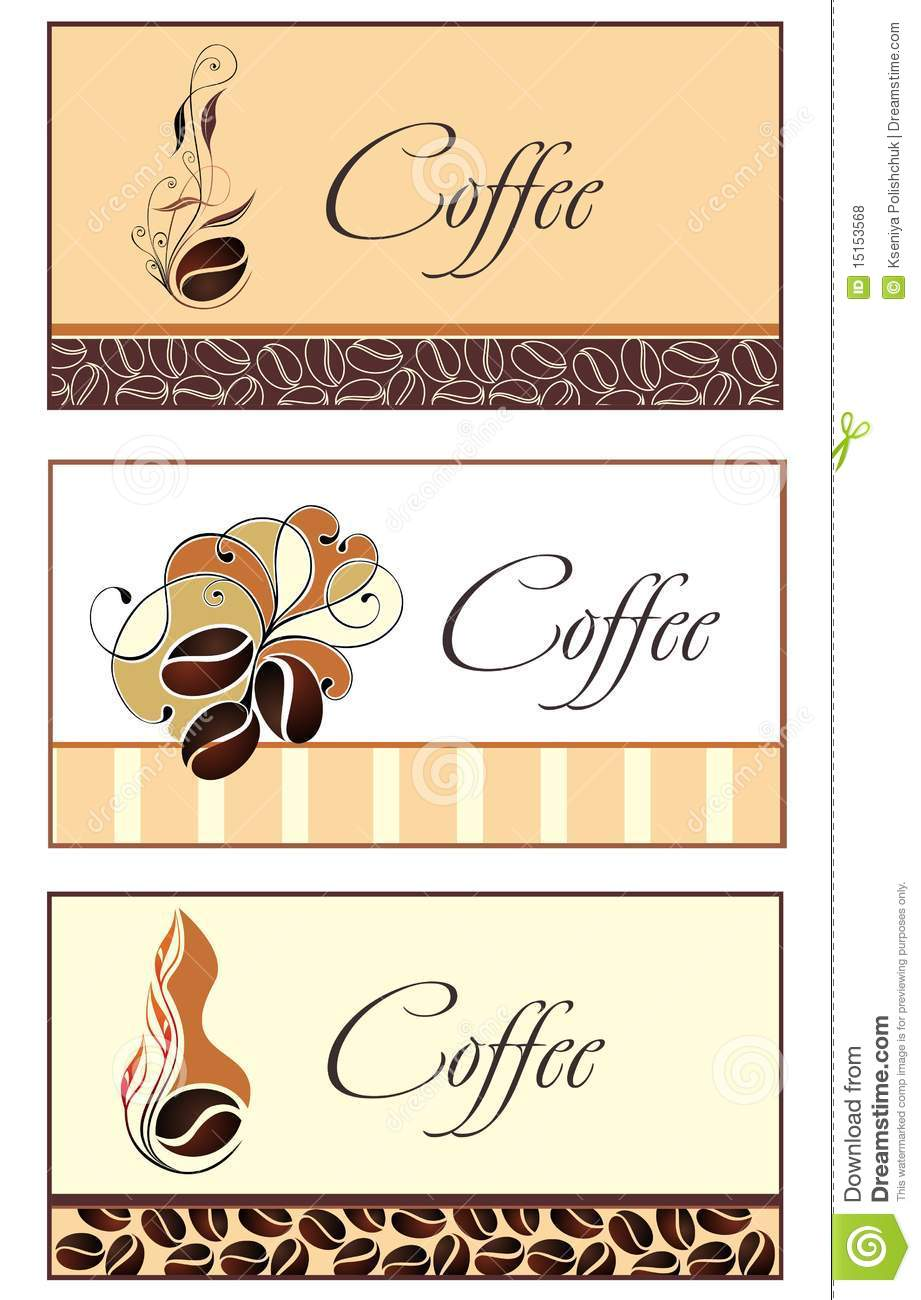 Template designs of business card for coffee shop stock vector template designs of business card for coffee shop royalty free stock photo wajeb